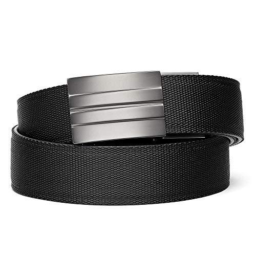 KORE Tactical Gun Belt | X2 Buckle & Black Reinforced Belt (BLACK, Fits 24' to 54')