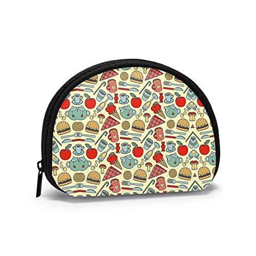 Kaffee Bier Ananas Messer Gabel Kleine Geldbörse Geldbörse Tasche mi-NI Kosmetiktaschen Reißverschlusstasche für Frauen
