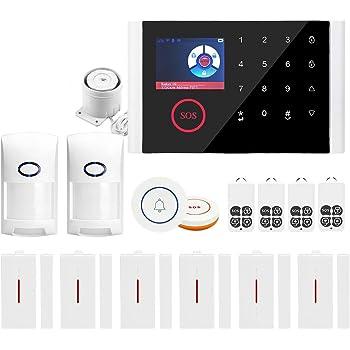 LCD Sans Fil GSM Autodial Smart Bricolage Sécurité Cambrioleur Intrus Alarme Système UK