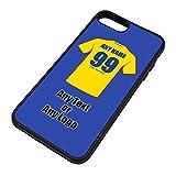 UNIGIFT - Carcasa para iPhone (Poliuretano termoplástico), diseño del Equipo de fútbol de Rumanía, TPU, Azul, iPhone 8 Plus/iPhone 7 Plus