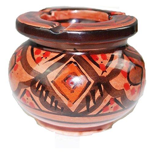 Simandra Marokkanischer Sturmaschenbecher Aschenbecher Keramik Windascher Ascher Orient Deko Color Rot