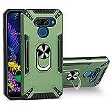 BINGRAN Etui pour LG K50 Cover,Pare Chocs en TPU Douple Anti Collision avec Support Magnétique de...