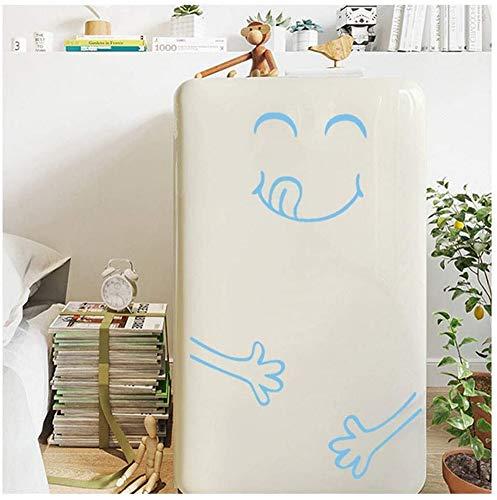 JYKFJ Etiquetas engomadas de la Pared del refrigerador, Etiqueta engomada Linda Sonriente del refrigerador Happy Delicious Face Cocina Frigorífico Pegatinas de Pared Arte (Azul Claro)