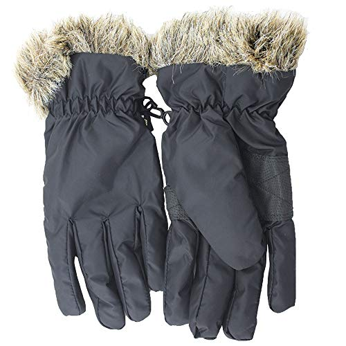 Ywlanlantrading Handschuh Skihandschuhe, Wasserdichte wärmste Winter Schnee Handschuhe für Damen, Mädchen, Kinder (Color : Blue)
