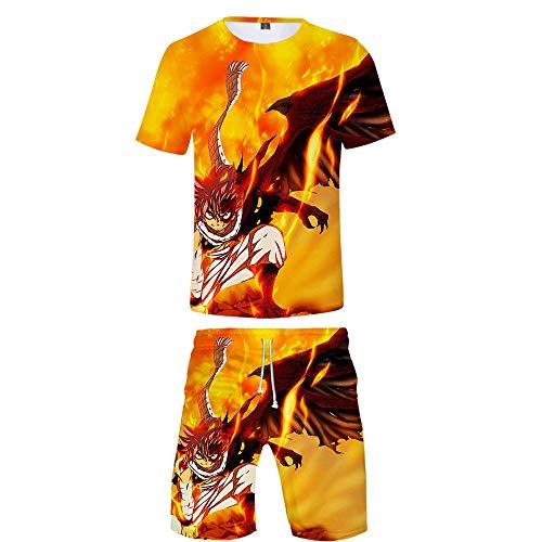 Preisvergleich Produktbild WOONN Shorts und Kurze Ärmel,  Shorts mit Fairy-Tail-Print passen zu Sport,  Freizeit und Pyjamas