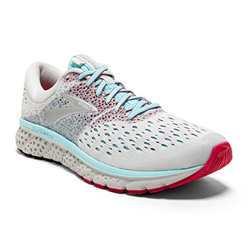 Brooks Womens Glycerin 16 Running Shoe - White/Blue/Pink - B - 7.0