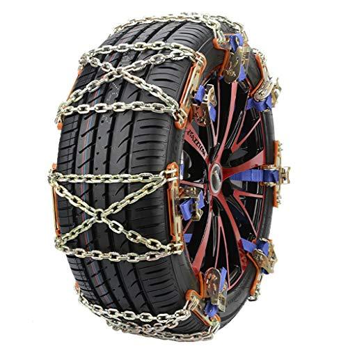 Huhu833 Schneeketten, Auto Schneekette Universal Anti-Rutsch Ketten für Auto SUV PKW mit Reifenbreite, Set mit 2 Stück,Größe: Schneekette 34X15cm (Gold)