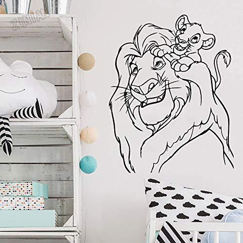 WERWN Der König der Löwen Zimmer Wandaufkleber Vinyl Cartoon Charakter Wanddekoration Wandbild Kindergarten Schlafzimmer Kunst Wanddekoration