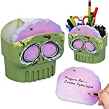 Numskull Notes Novelty Zombie Sugar Skull Sticky Notes Stationary Holder Pot Desk Tidy - Zombie