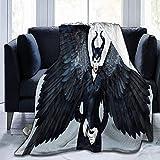 Searster$ Fleece Blanket Coperta malefica Coperta Super Morbida per Adulti Caldi con Morbida Flanella Anti-Pilling per Bambini Adulti - 50X40 Pollici