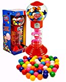 PlayO 10.5' Spiral Gumball Machine Toy Bank - Dubble Bubble Spiral Style Includes Aprox 40 Gum Balls - Kids Prizes (Red...