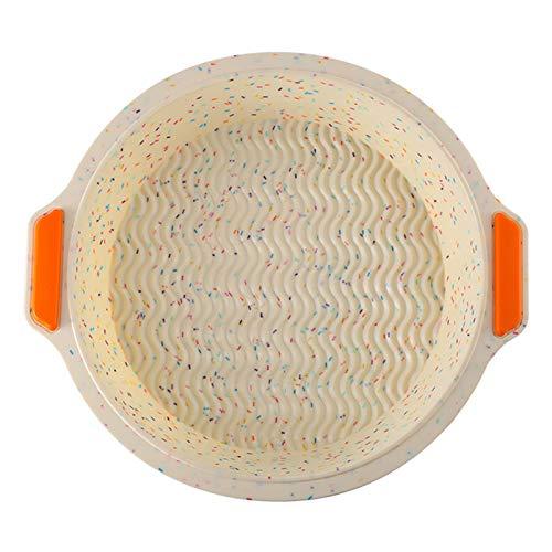 Yosemite Brotbackform, rund, antihaftbeschichtet, Silikon, Hackbraten, 29 x 26,2 x 5 cm, klein, schwarz zum Backen von Brot, mehrfarbig