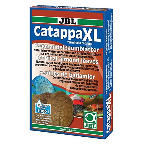JBL Catappa 25198 Seemandelbaumblätter für Süßwasser Aquarien, 10 Stück, XL