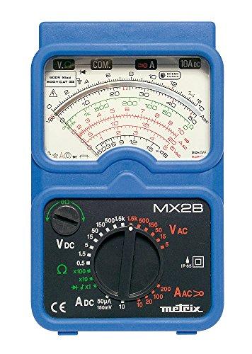 Metrix - Multímetros de mano mx 2 multímetro analógico con una pinza mn09 y maletín de transporte