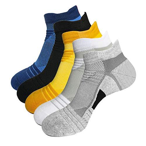 Litthing Calcetines Deportivos Antideslizantes de Algodón para Hombre Desodorante Respirables para Baloncesto Fútbol Yoga de Balonmano Correr engrosamiento de Ciclismo