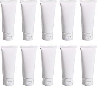 20 flaconcini di ricambio in plastica bianca per cosmetici, a tenuta stagna, da viaggio, con coperchio, contenitori per ca...