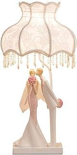 WSJTT Creative Motion White Base Resin Table Lamp Lamps for Bedrooms Bedside Lamp Resin Decorative Table Lamp Wedding Gift