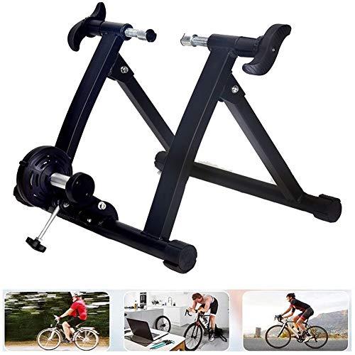 Ycrdtap Home Magnetic Turbo Trainer, Support de vélo pour Enfants, Vélo de Montagne et de Route intérieur réglable Entraîneur à Engrenages Fixes, Support de vélo pour vélo de 26 '' - 28 '',Noir