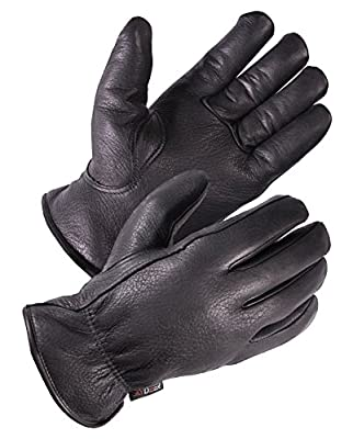SKYDEER Full Premium Genuine Deerskin Leather Hi-Performance Utility Winter Drivers Work Gloves (SD2211T/XL, 100g 3M Thinsulate Insulation)