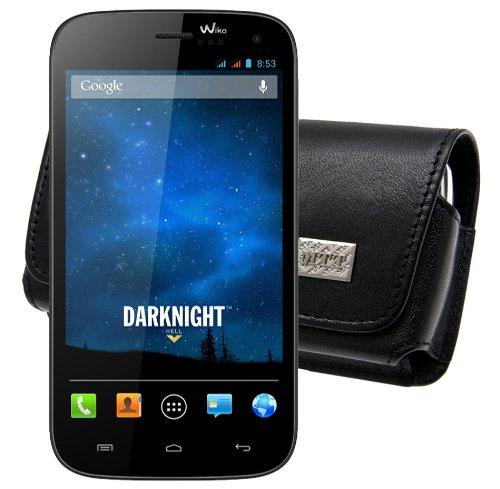 Original MTT Quertasche für / Wiko Darknight / Horizontal Tasche Ledertasche Handytasche Etui mit Clip & Sicherheitsschlaufe*
