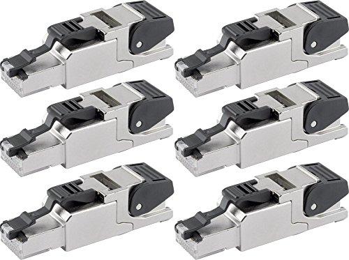 Telegärtner J00026A2000 feldkonfektionierbarer RJ45-Stecker für AWG24/1-AWG22/1, AWG27/7-AWG22/7 (6, 1 Stecker)