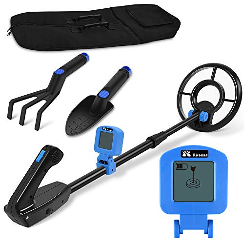 Metal Detector for Kids - Kid Metal Detector Junior 7.4 Inch Waterproof Search Coil Junior Metal Detector LCD 24 Inch to 35 Inch Adjustable Stem Buzzer Vibration Sound 2 Pouds Lightweight Easy to Use