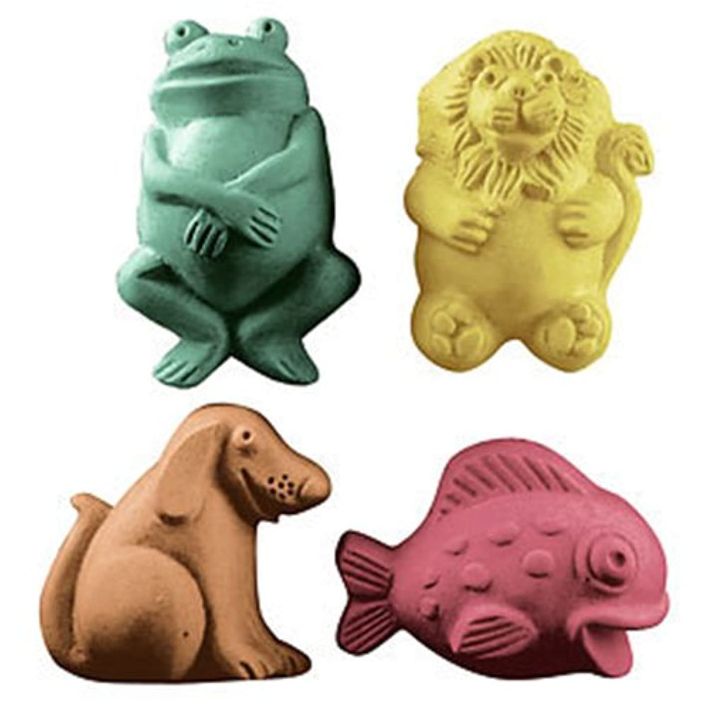 Lion Fish Dog Frog Guest Soap Mold (MW 109) -  Milky Way. Melt & Pour, Cold Process w/ Exclusive Copyrighted Full Color Cybrtrayd Soap Molding Instructions in a Sealed Poly Bag