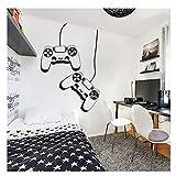 Gamer Ps4 Controller Wall Decal Vinilo personalizado Etiqueta de la pared para la habitación de los niños Sala de juegos Decoración de la casa Wallpaper extraíble57x73cm
