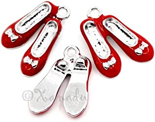 Decoration Red Ruby Slippers Wizard of Oz Wholesale Enamel Charms C3255-3,