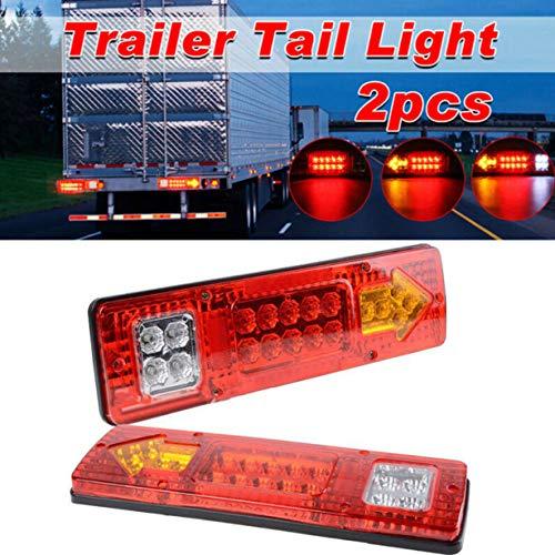 2 stks 24 V Rood 19 LED Truck Aanhangwagen Vrachtwagen Rem Stop Turn Achterlicht Indicator Aanhanglamp Achterlicht Autolichten