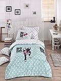 OMASES Luxuriöses Bettwäsche-Set für Einzelbett, Leinen, Mops, Chihuahua, Boston Terrier, Cartoon, Knochen, Pink, 152 x 200 cm