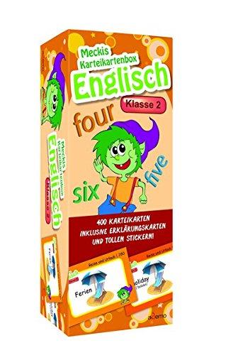 Karteibox Englisch Klasse 2: mit 400 farbigen Karteikarten und tollen Stickern