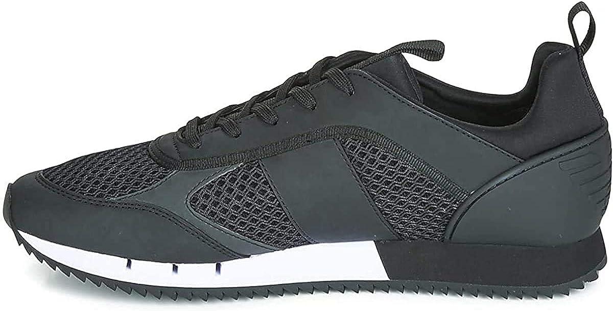 Amazon Com Ea7 Men S Woven Trainers Black Fashion Sneakers
