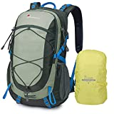 MOUNTAINTOP 40L Hiking Backpack with Rain Covers for Backpacking, Camping, Cycling and Traveling