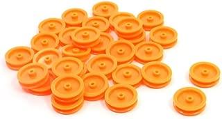 30 Pcs 2mm Hole Orange Plastic Belt Pulley for DIY RC Toy Car Airplane