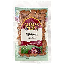 アリサン 有機 アーモンド(生) 100g  / Alishan Organic Raw Almond 100g in Japan