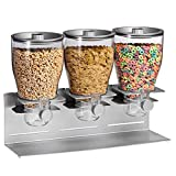 Zevro KCH-06151 Indispensable Dry Food Dispenser, Triple Control, Silver