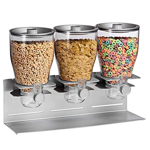 Zevro KCH-06151 Indispensable Dry Food Dispenser, Triple Control, Silver