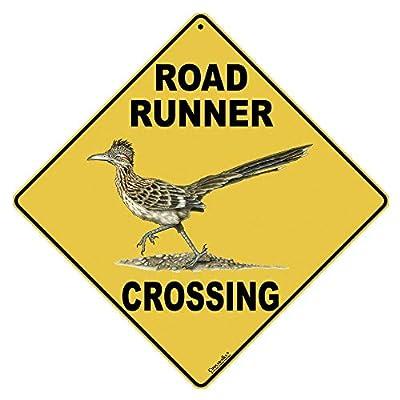 "CROSSWALKS Road Runner Crossing 12"" X 12"" Aluminum Sign (X123)"