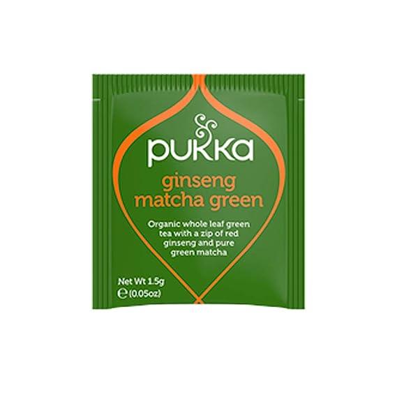 Amazon Com Pukka Organic Ginseng Matcha Green Tea Satchets Pack Of 3 Grocery Gourmet Food