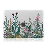 iDonzon MacBook Air 13 inch Case(A1932, 2018-2019 Release), 3D Effect Matte Clear See Through Hard Case Cover Only Compatible New MacBook Air 13.3 inch with Retina Display Touch ID - Garden Flowers