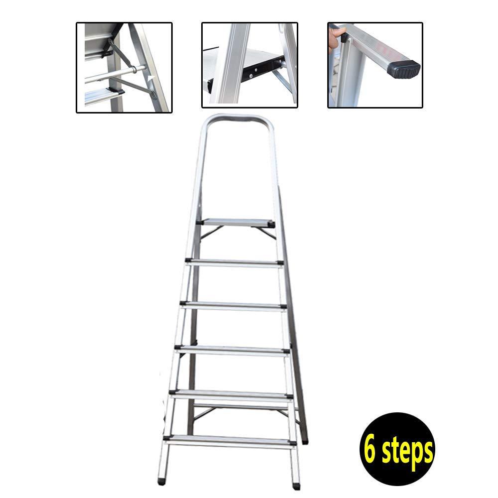 5M telescópica escalera de aluminio portátil multiuso plegable Escaleras de Extensión EN 131 for la cubierta exterior del constructor Proyector DIY fácil lleva 150kg / 330lbs Max.Carga dljyy: Amazon.es: Bricolaje y herramientas