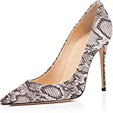 ELASHE Zapatos de Tacón - 4 Inch Clásicas Tacones Altos - Boda Wedding Cerrado Mujer...