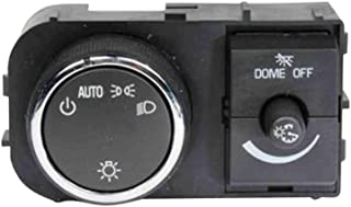 GM Genuine Parts D1525J Ebony Headlamp, Instrument Panel Dimmer, and Dome Lamp Switch