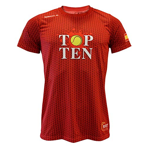 Luanvi Edición Limitada Camiseta técnica Top Ten, Hombre, Rojo, L (52-70cm)