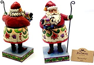 Jim Shore Santa W/ Cane Holding Cow 4010850