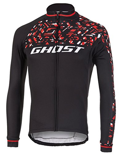 Ghost Factory Racing Jersey Long Night Black/riot red/Star White (XXL)
