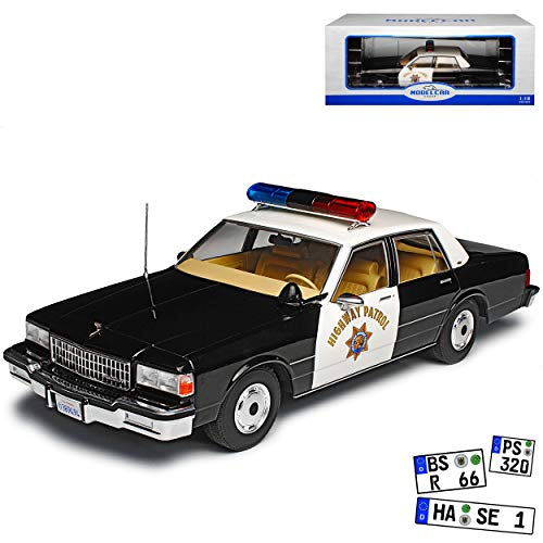 Model Car Group Chevy Chevrolet Caprice California Highway Patrol Police Polizei 3. Generation 1976-1990 1/18 Modell Auto