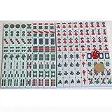 Bixialan Set de Mahjong Mini 23mm Tradicional Juego de Mahjong Juego Partido Encuentro de Juegos con Mini Vector for el Partido hogar y el Recorrido para el hogar Fiesta (Color : Green, Size : 23mm)