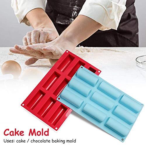 1 pc cakevorm, 9 holte siliconen mallen, non-stick chocolade snoep mousse mallen diy bakgereedschap voor keuken, Radom kleur